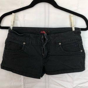 Simple black shorts